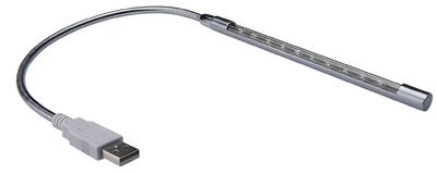 USB LED Notebook-Leuchte, mit flexiblem Schwanenhals
