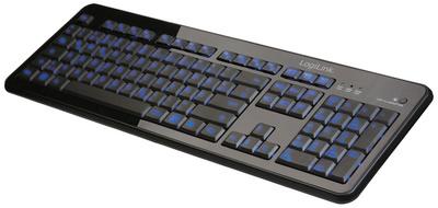 Beleuchtete Tastatur, kabelgebunden, schwarz