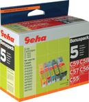 Multipack-Tinte für Canon CLI-8/PGI-5, C59,C55-C57