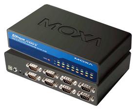 USB 2.0 auf RS-232 Hub, 8-fach, Desktop, mit Netzteil