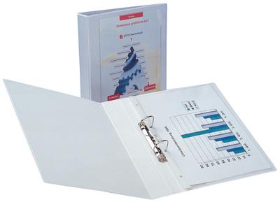Präsentations-Ringbuch Economic, A5, weiß, 2 Ring-