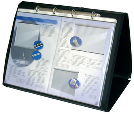 Tisch-Flipchart, DIN A3 quer, schwarz