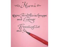 Kalligraphiestift Italic Fountain JM213, rot