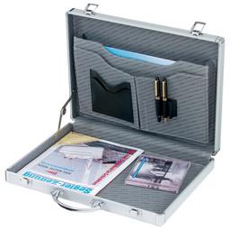 Attaché-koffer MINOR, Aluminum, silber