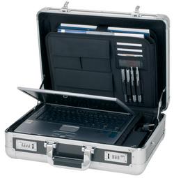 Laptop-Attaché-Koffer CARBON, Aluminium