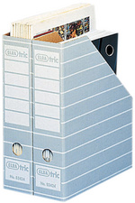 tric Archiv-Stehsammler, A4, mit Greifloch, grau/weiß