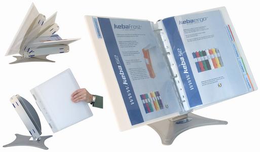 Tischständer KEBA-Display, mit ERGOGRIP Ordner, 56 mm