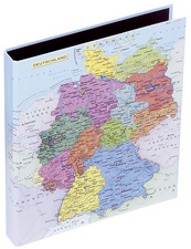 Ringbuch, Motiv: Deutschlandkarte, DIN A4