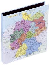 Heftbox, Motiv: Deutschlandkarte, DIN A4