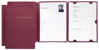 Bewerbungsmappe Select, DIN A4, aus Karton, rot