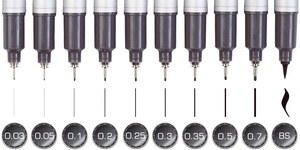 MULTILINER SP 0,1 mm, schwarz