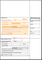 Bankformular PC-Überweisung/Zahlschein, A4